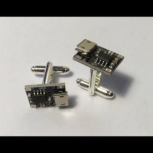 2x host pick!!  Black circuit board cufflinks